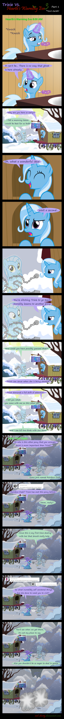 Trixie Vs. Hearth's Warming eve 3 (part 1) by Evil-DeC0Y