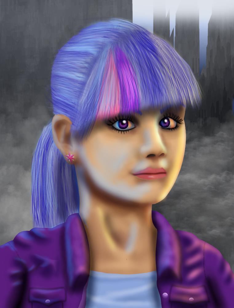 Shadowrun Twilight Sparkle (Commission) by Evil-DeC0Y