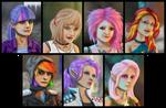 MLP Shadowrun Portrait Set (Commission)