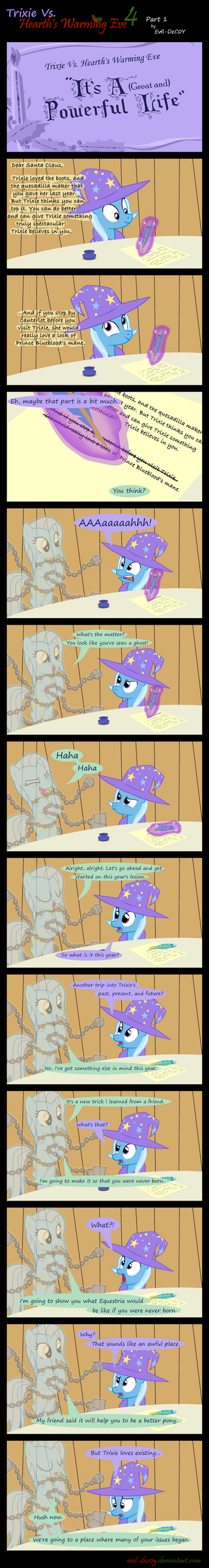 Trixie Vs. Hearth's Warming Eve 4 (part 1) by Evil-DeC0Y