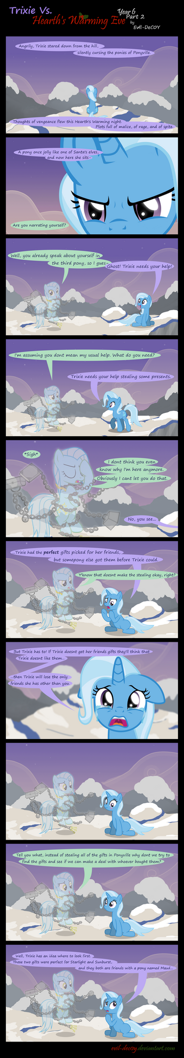 Trixie Vs. Hearth's Warming Eve: Year 6 (Part 2) by Evil-DeC0Y