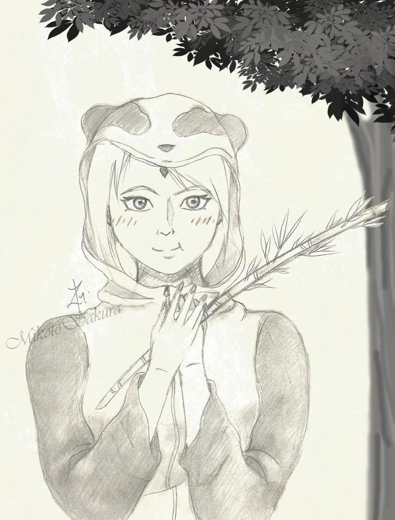 Haruno Sakura Panda by MikotoSakura