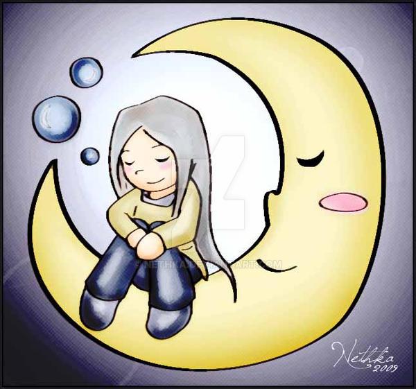 La luna duerme by Nethka
