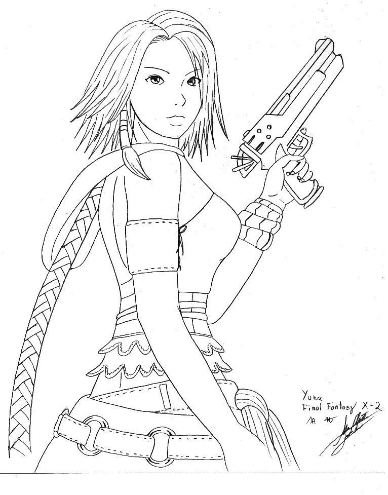 Yuna FFX-2 by Marco2099 on DeviantArt