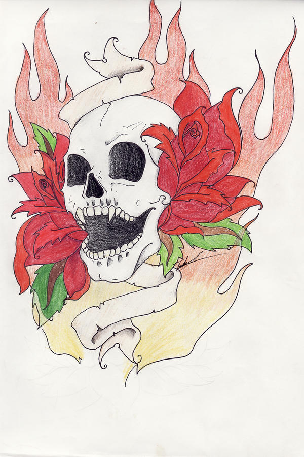 Vampire skull tattoo design by ravencry on deviantart for Vampire skull tattoo