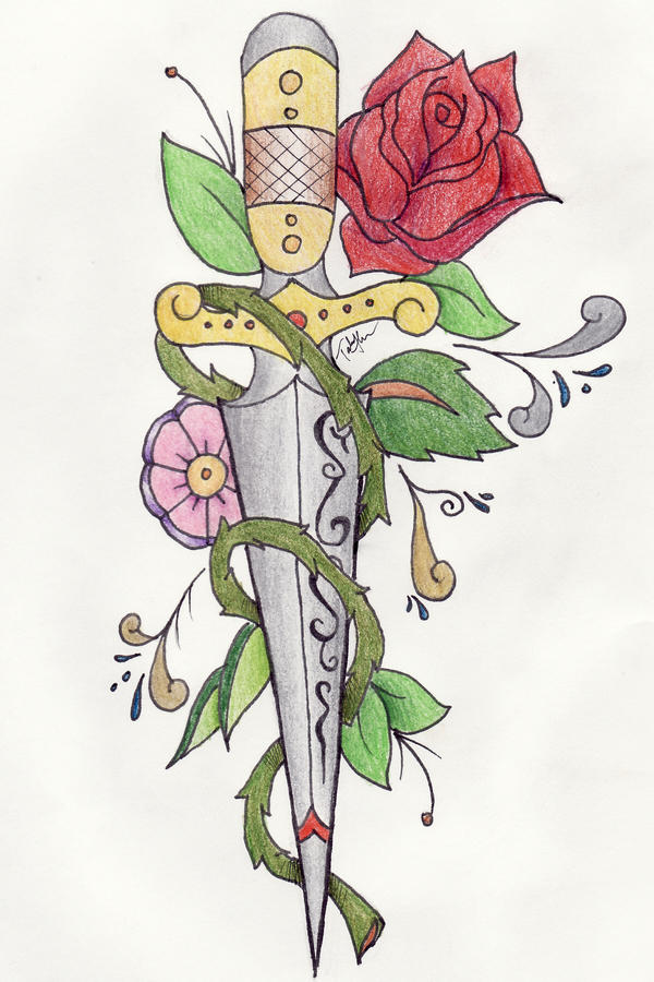 traditional knife tattoo by ~ravencry on deviantART