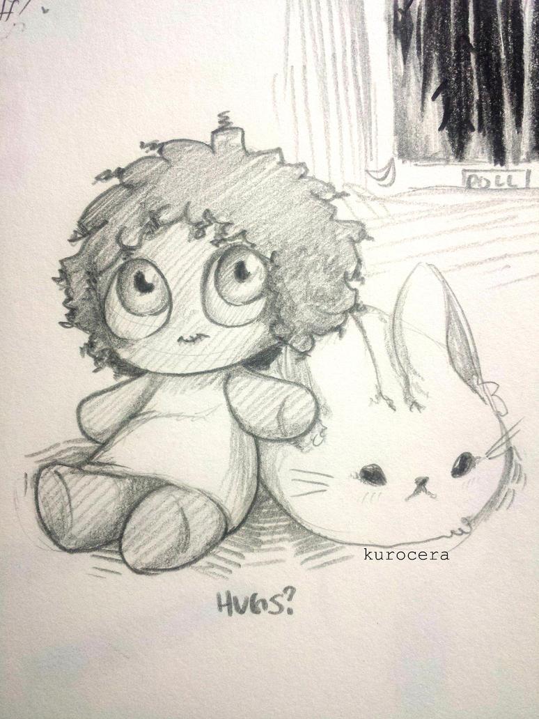 Creepy Doll/Bunny by KuroCera