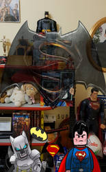 In my bedroom you face Batman vs Superman in LEGO by GiovanniNeve
