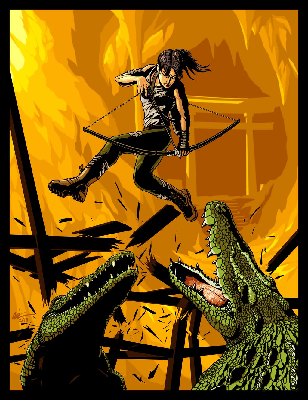 Croft vs Crocs! by niz-m