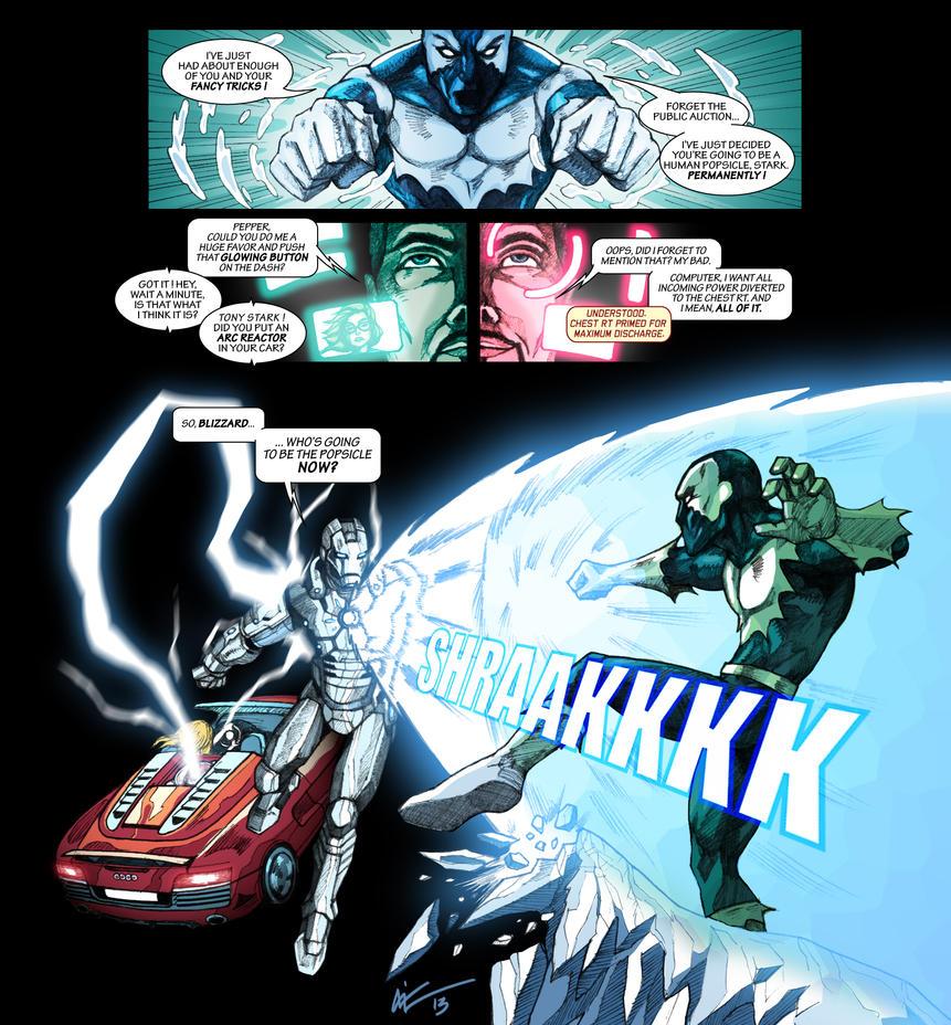 Iron Man vs Blizzard by niz-m