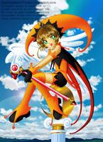 Sakura the Orange n' Black Court Jester by Galistar07water