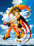 Sakura the Orange n' Black Court Jester