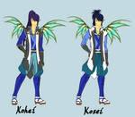 Kohei and Kosei New Power sketch by Galistar07water