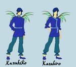 Kazuhiko and Kazuhiro First Transformation sketch by Galistar07water