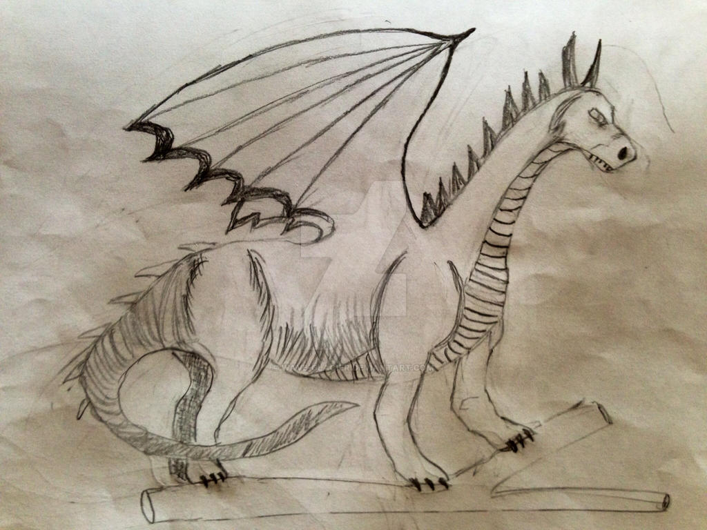 Dragon on a log! by Wave-Glacier