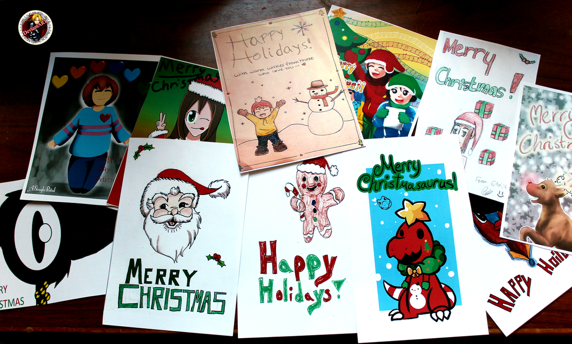 CHRISTMAS CARDS FOR KIDS PICTURES 2015 by DA-Risembool-Rangers