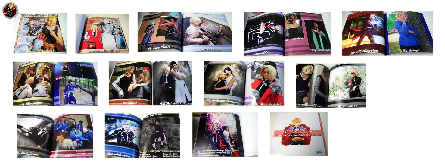 THE COSPLAY BOOK PROJECT - PICTURES by DA-Risembool-Rangers