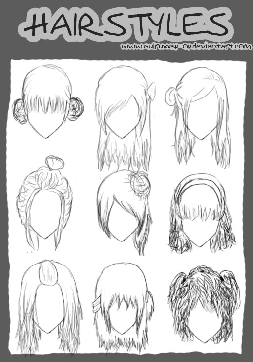 Short Hairstyles Stock... Cool Lighter Drawings