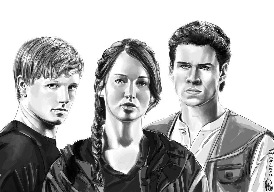 Hunger Games Peeta Drawing The hunger