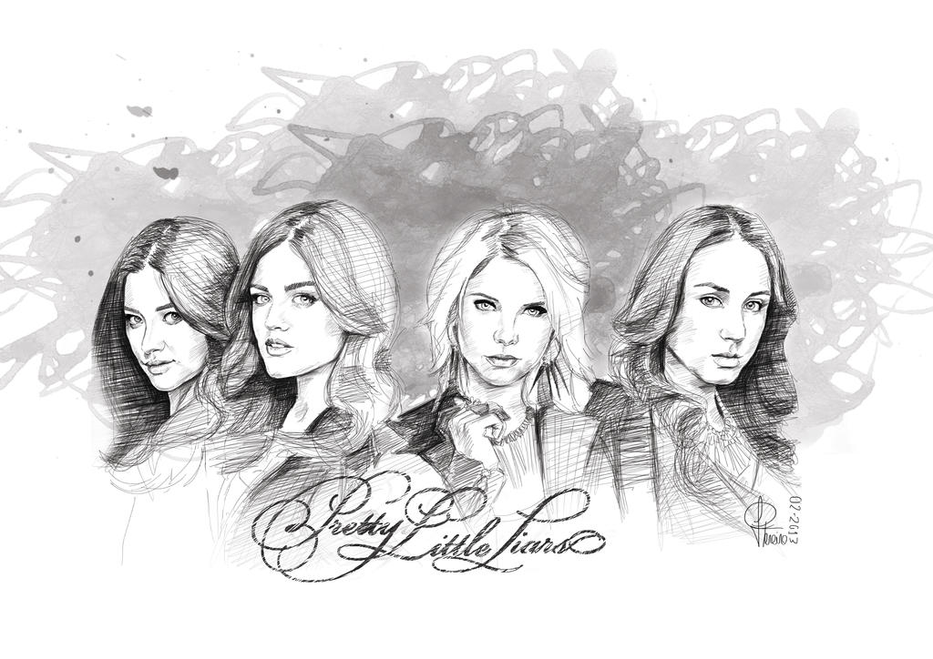 Pretty little liars by joanap on deviantart for Pretty little liars coloring pages