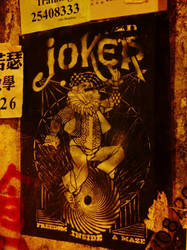 joker on the wall by vedemaire