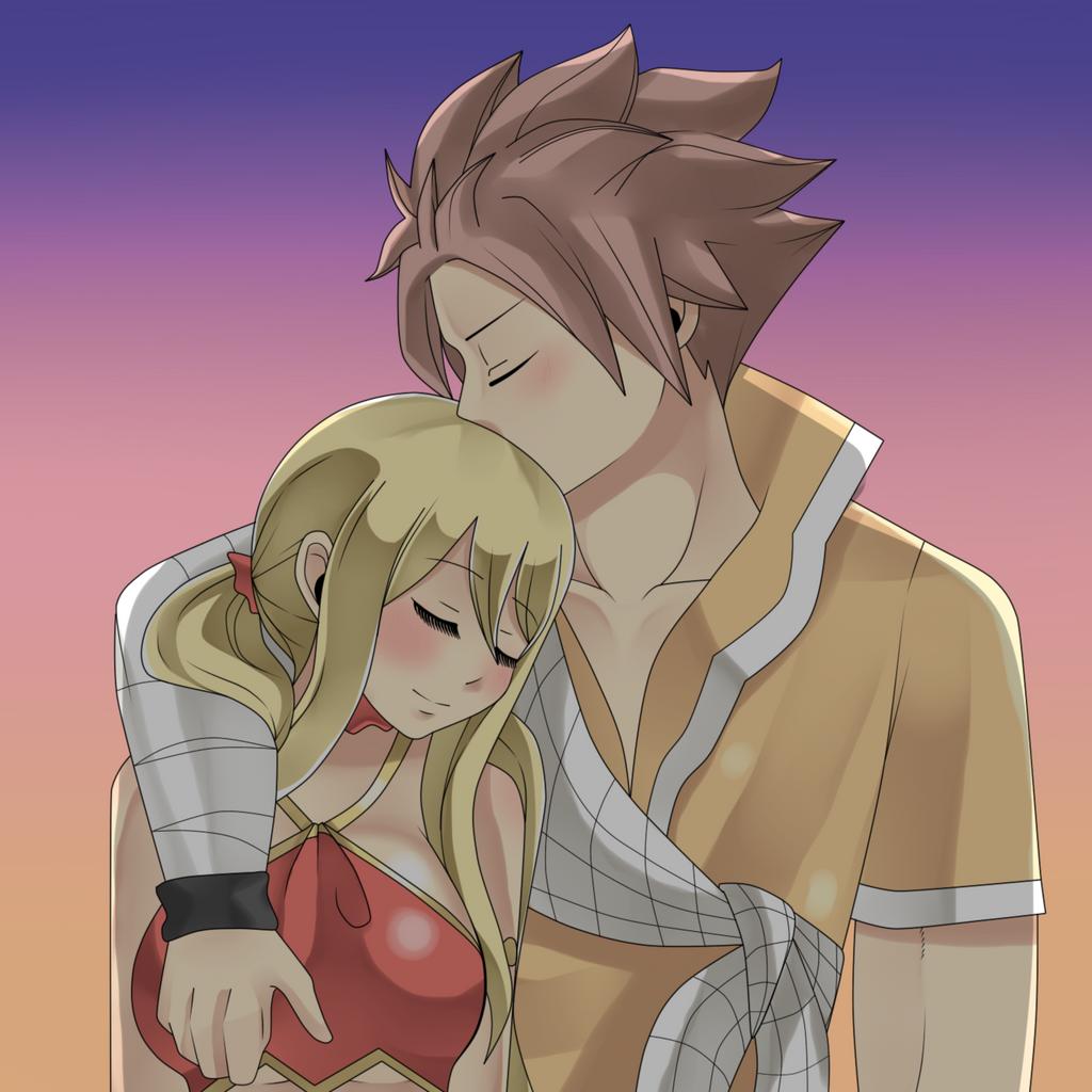 Natsu And Lucy Hug Kiss Dragon Cry By Genezizpa On Deviantart