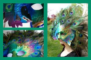 Peacock Mask Angles by OakMyth