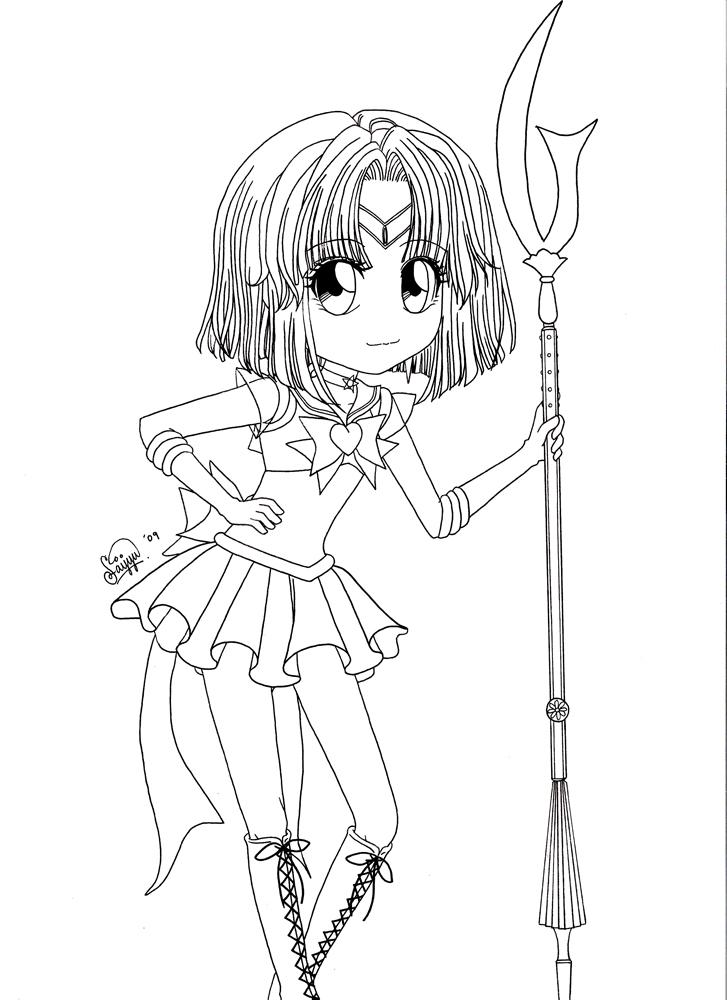 Super Sailor Saturn Lineart by saphi-saphi
