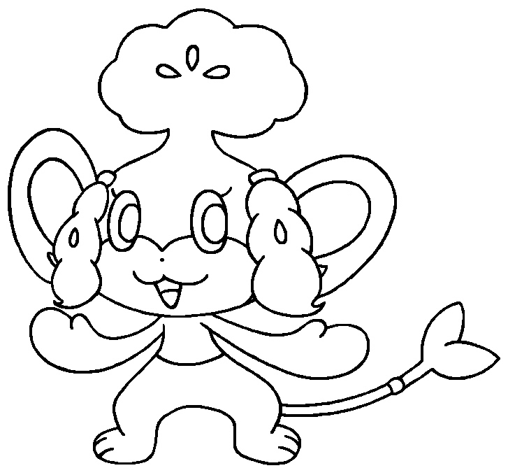 pokemon pansage coloring pages - photo #27