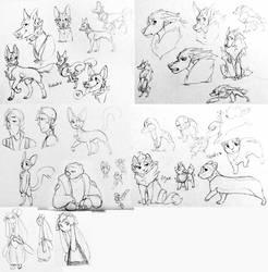 Sketcheroonies by flyteck