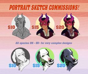 Portrait Sketch Commissions OPEN! [4/5 Slots]