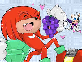 Knuckles: Love Triangle? by HeroVeggies