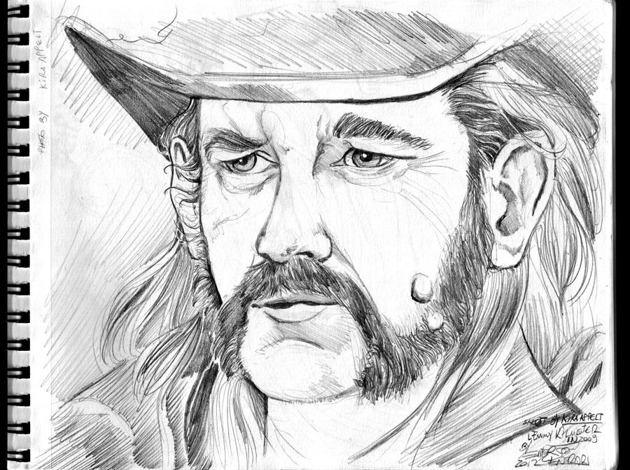 A4 Sketchbook Canson - Lemmy Kilmister - Motorhead by Penerari