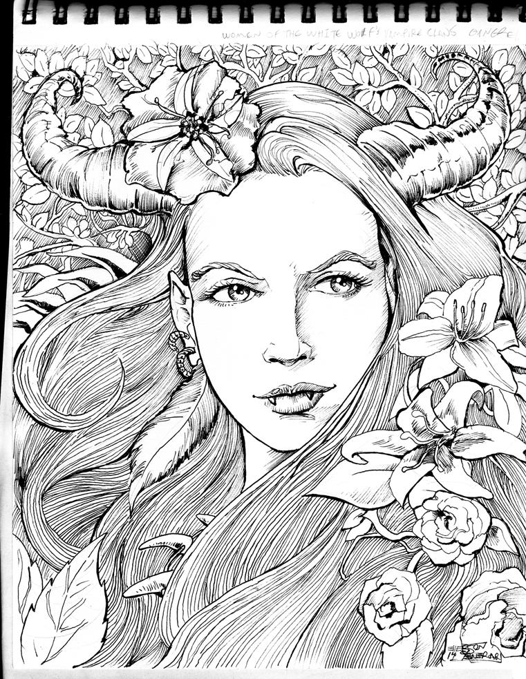 2014 sketchbook Cernunna Gangrel by Penerari