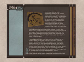 Old Portfolio Page Mockup 3 by SteMega