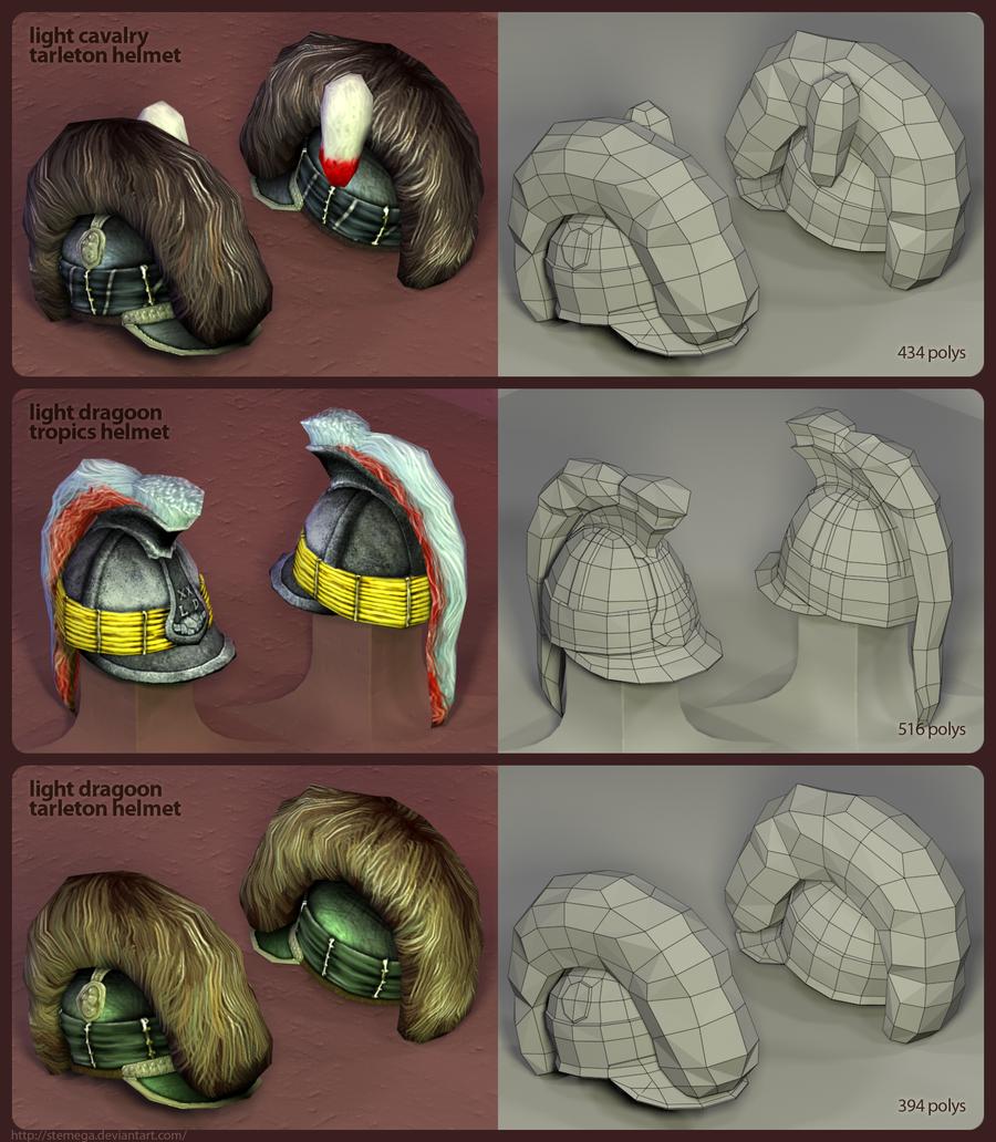 British helmets: Render + mesh by SteMega