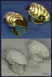 Corsairs helmet: Render + mesh