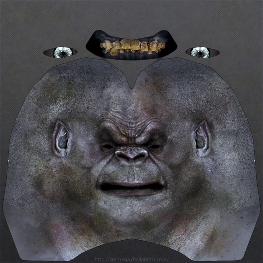 Uruk-hai heads: Sample head texture. by SteMega
