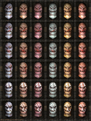 Uruk-hai heads: Head textures variations.