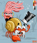 Mr. Web, the Crab and Anne, the anemone
