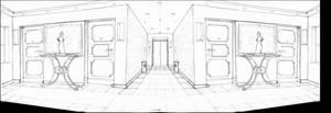 Detective Game: Apartment building hallway