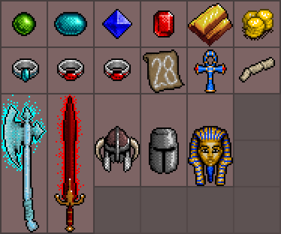 Dark Disciples: assorted items.