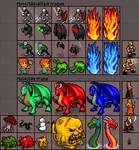 Dark Disciples: enemies, NPCs and player.