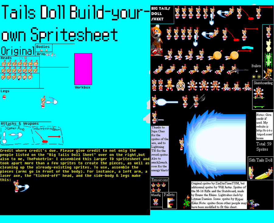Tails Doll Buid-your-own-Spritesheet Beta by ThePoketrix ...