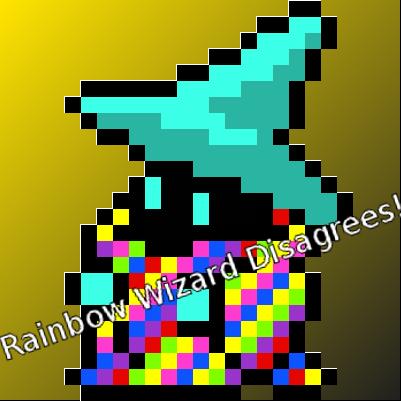 Rainbow wizard disagrees by crow5derlock