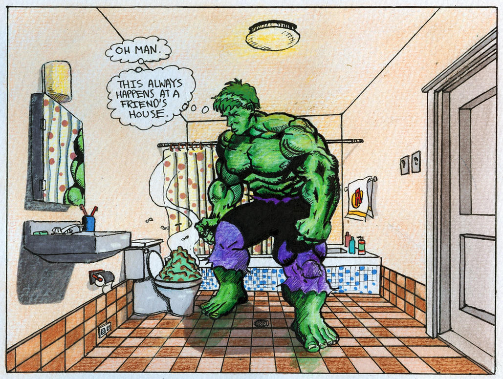 Hulk goes to the toilet by Zabbah