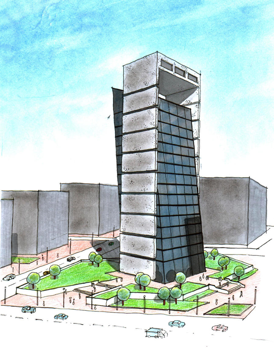Another office building design by zabbah on deviantart Building plans and designs