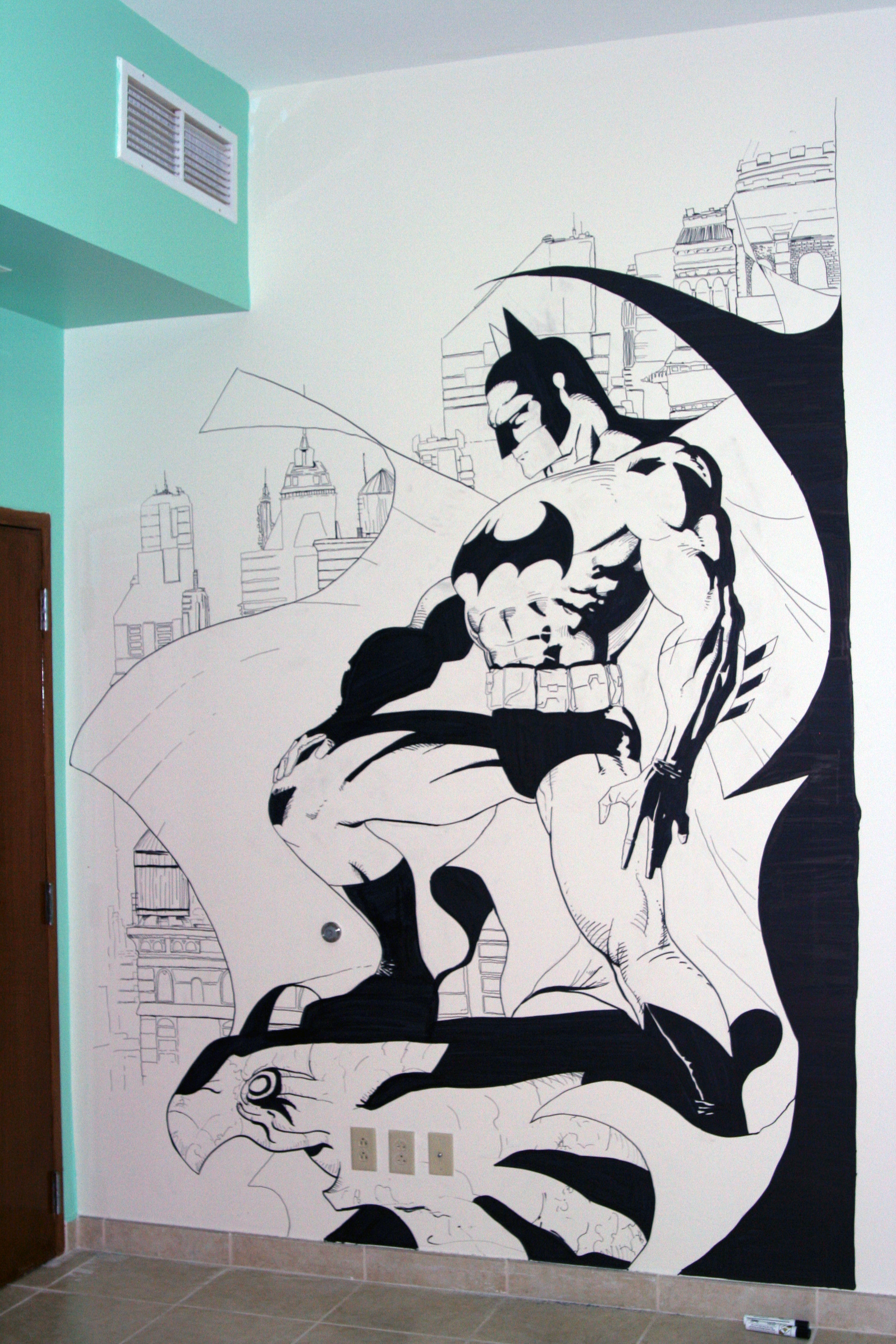 Batman Wall Art By Zabbah Batman Wall Art By Zabbah