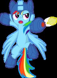 Rainbow Dash-Mega Man