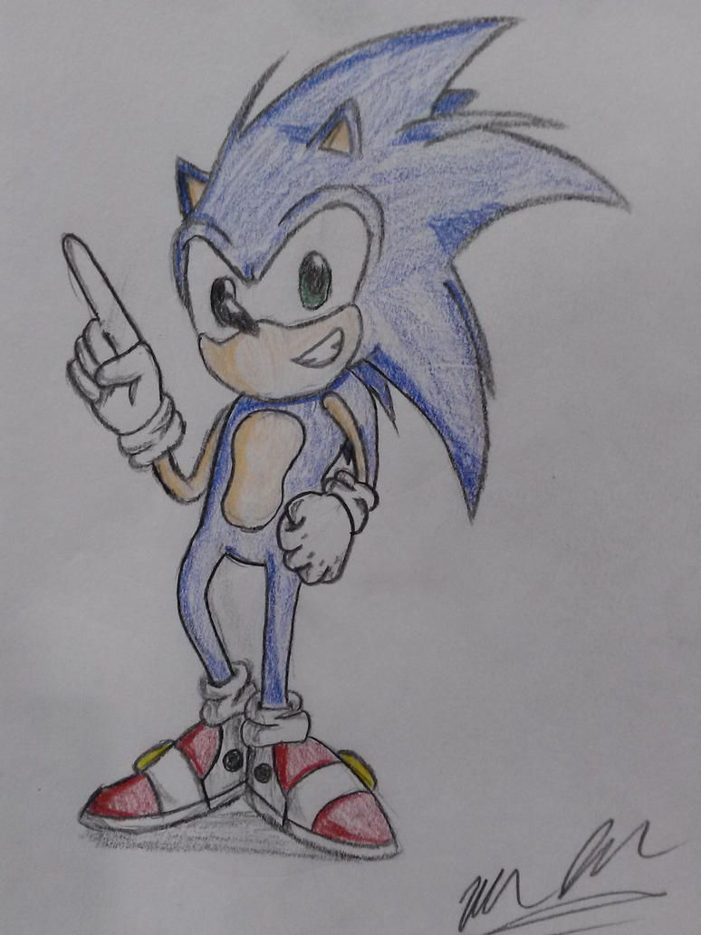 Sonic The hedgehog by UltimateIfrit